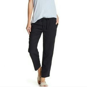 James Perse Drawstring Pull On Navy Blue Pants